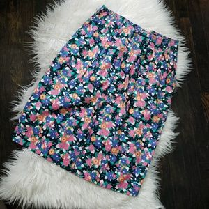 Vintage Hunt Club Floral High Waisted Skirt